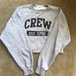 "Brandy Melville Sweaters - BRANDY MELVILLE ""Crew"" cropped sweatshirt"
